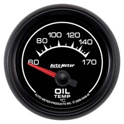 Auto Meter 5948-M ES Air-Core Oil Temperature Gauge, 2-1/16 Inch