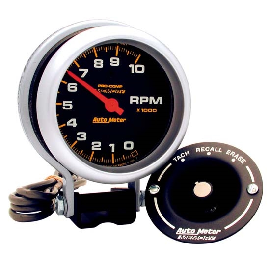 auto meter 6601 pro comp air pedestal tachometer 10k rpm 3 3 4 free shipping speedway