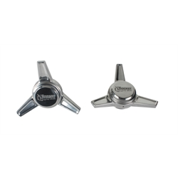Rocket Racing Wheels RS1-D102 Polished Deep Angle Spinners, Pair