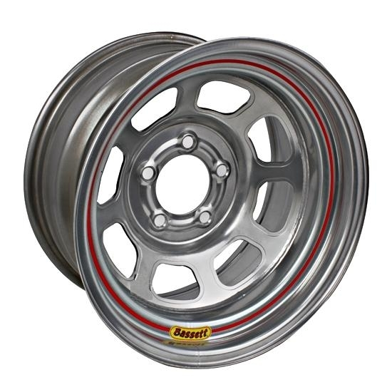 Bassett 57SC375S 15X7 D-Hole Lite 5on4.75 3.75 Backspace Silver Wheel