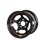 Bassett 58AC1I 15X8 Inertia 5 on 4.75 1 In Backspace IMCA Black Wheel