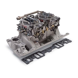 Edelbrock 2026 RPM Air-Gap Dual-Quad Intake Manifold/Carburetor Kit