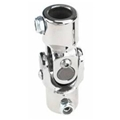 Sweet Mfg Chrome Steering U-Joint, 3/4-30 Spline to 1 DD, Small GM P/S
