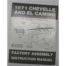 Dave Graham Factory Assembly Instruction Manual, 71 Chevelle/El Camino