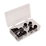 16 Piece Rod End Spacer Kit, 1/2 Inch, Black