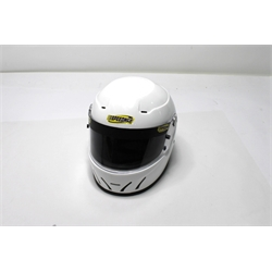 Garage Sale - Speedway SA2010 Racing Helmet, White, Size Large