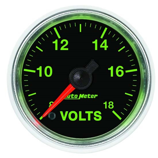 Auto Meter 3891 GS Digital Stepper Motor Voltmeter Gauge, 2-1/16 Inch