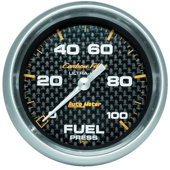 Auto Meter 4863 Carbon Fiber Digital Stepper Motor Fuel Pressure Gauge