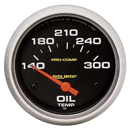 Auto Meter 5447 Pro-Comp Air-Core Oil Temperature Gauge, 2-5/8 Inch