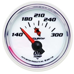 Auto Meter 7148 C2 Air-Core Oil Temperature Gauge, 2-1/16 Inch