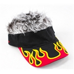 FlairHair Visor, Flame w/ Gray Hair