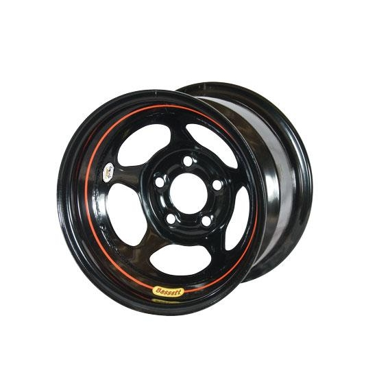 Bassett 58A54W 15X8 Inertia 5 on 5 4 In Backspace Wissota Black Wheel