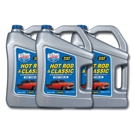 Lucas Oil 10683 Sae 10w40 Hot Rod Engine Oil Three 5