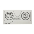 Pedal Car Parts, AMF Mustang Rally-Pac Gauge Graphic