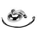 Pedal Car Parts, Flat Face Bell Assembly with Cord, Chrome