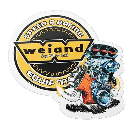 Weiand 10001WND Vintage Tin Sign