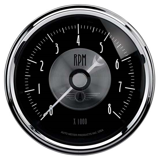 Auto Meter 2096 Prestige Black Diamond Air-Core In-Dash Tachometer