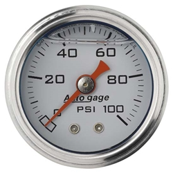 Auto Meter 2177 Auto Gage Mechanical Pressure Gauge, 1-1/2 Inch, 0-100