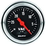 Auto Meter 2484 Traditional Chrome Mechanical Vacuum Gauge