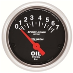 Auto Meter 3327-M Sport-Comp Air-Core Oil Pressure Gauge, 2-1/16 Inch