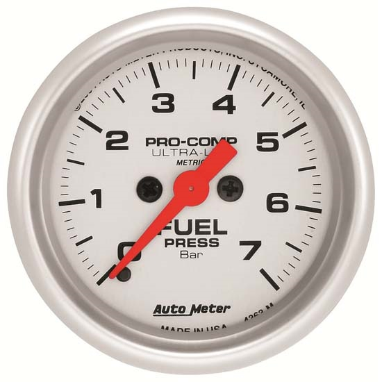 Auto Meter 4363-M Ultra-Lite Digital Stepper Motor Fuel Pressure Gauge