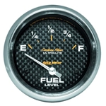Auto Meter 4816 Carbon Fiber Air-Core Fuel Level Gauge, 2-5/8 Inch