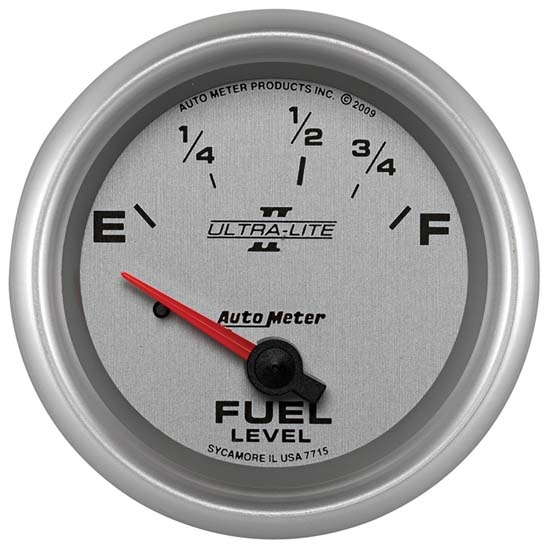 Auto Meter 7715 Ultra-Lite II Air-Core Fuel Level Gauge, 2-5/8 Inch
