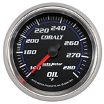 Auto Meter 7941 Cobalt Mechanical Oil Temperature Gauge, 2-5/8 Inch