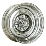 O/E Style Hot Rod Steel Wheel, Chrome, 15 x 5, 5 on 4-1/2 Inch