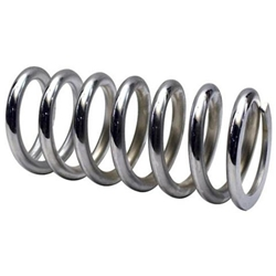 Garage Sale - Chrome Coil Spring, 2-1/2 ID, 9 Inch, 650 lbs.
