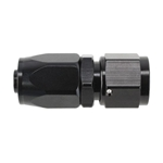 Speedway Full Flow Swivel Hose End Fitting, Straight, Black Anodized, -8 AN