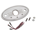 Aluminum Polished Oval Switch Plate & LED Indicators