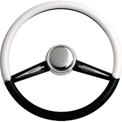 CON2R SW2SPOKE-BLK Two-Tone Twin Spoke Steering Wheel, Black and White