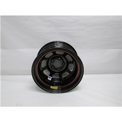 Garage Sale - Bassett 58DF2I 15X8 D-Hole 5 on 4.5 2 Inch Backspace IMCA Black Wheel
