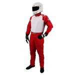 Garage Sale - Speedway Racing Suit-One Piece-Single Layer, Red, Size Small