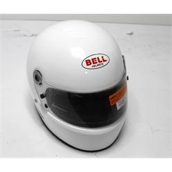 Garage Sale - Bell SA-10 XFM1 Classic Racing Helmet, Vintage Series, White, Size L