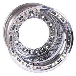 Weld Wide 5 HS Wheel with Outer Beadlock, 15 x 14, 5 Inch Backspace