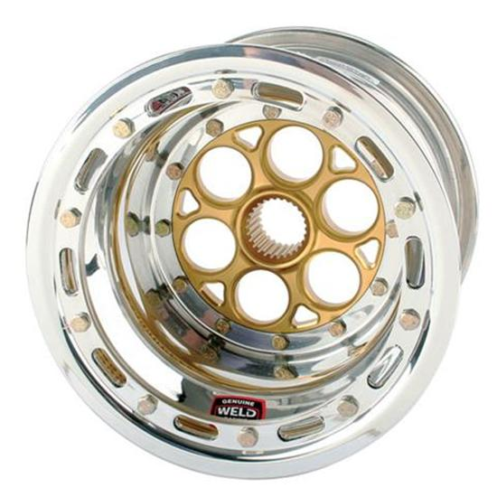 Weld Magnum 27 Spline 10 x 8 Inch Wheel - Beadlock and Cover, 3 Inch Offset
