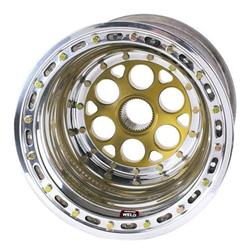 Weld Splined Left Rear Wheel - 15x15, 6 Inch Offset Inner Beadlock