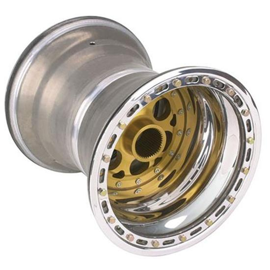 Weld Splined Double-Beadlock Rear Wheel - 15 x 17, 5 Inch Offset