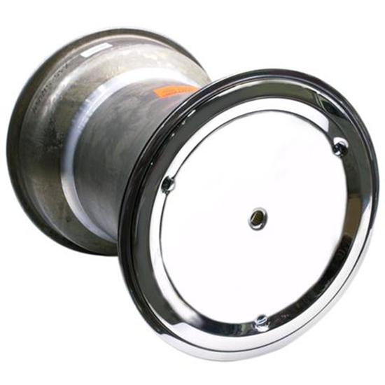 Weld Splined 15 x 18 Inch Right Rear Wheel, 4 Inch Offset, Beadlock/Cover