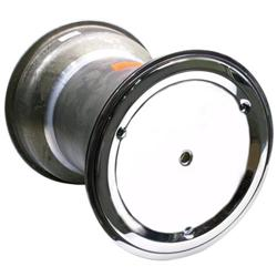 Weld Splined 15 x 18 In Right Rear Wheel, 6 In Offset, Beadlock/Cover