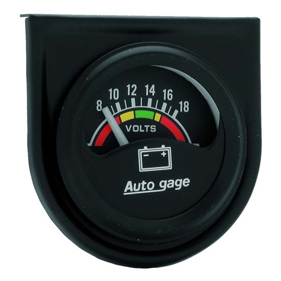 Auto Meter 2356 Auto Gage Air-Core Voltmeter Gauge w/Panel, 1-1/2 Inch