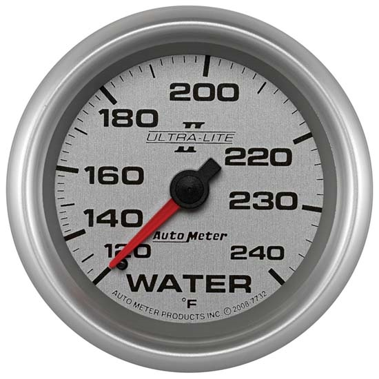 Auto Meter 7732 Ultra-Lite II Mechanical Water Temperature Gauge