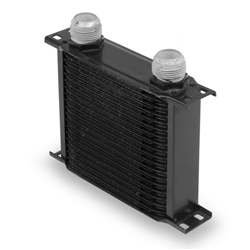 Earls 21916AERL 19 Row Oil Cooler, -16 AN, Black