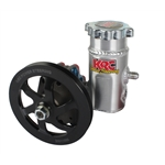 KRC 63201100 Alum Power Steering Pump w/ Aluminum Tank, V-Belt Pulley