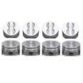 KB Claimer Chevy 350 Hypereutectic Pistons, Flat Top 4V, 5.7 Rod