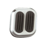 Lokar BAG-6006 Billet Aluminum Dimmer Switch Cover w/Rubber, Brushed