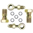 Banjo Brake Fitting Kit, 10mm-1.5 to -4 AN