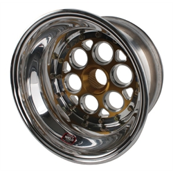 Weld 13 x 10 In 36 Spline w/ Outer Beadlock and Mud Cover, 1 In Offset